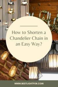 how to shorten chandelier chain
