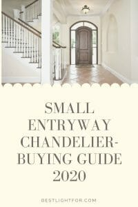small entryway chandelier