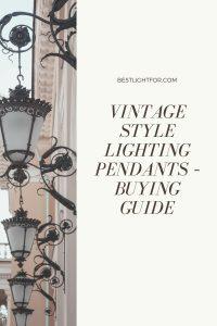 vintage style lighting pendants