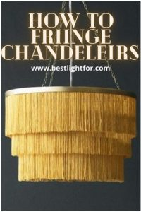 how to fringe chandelier