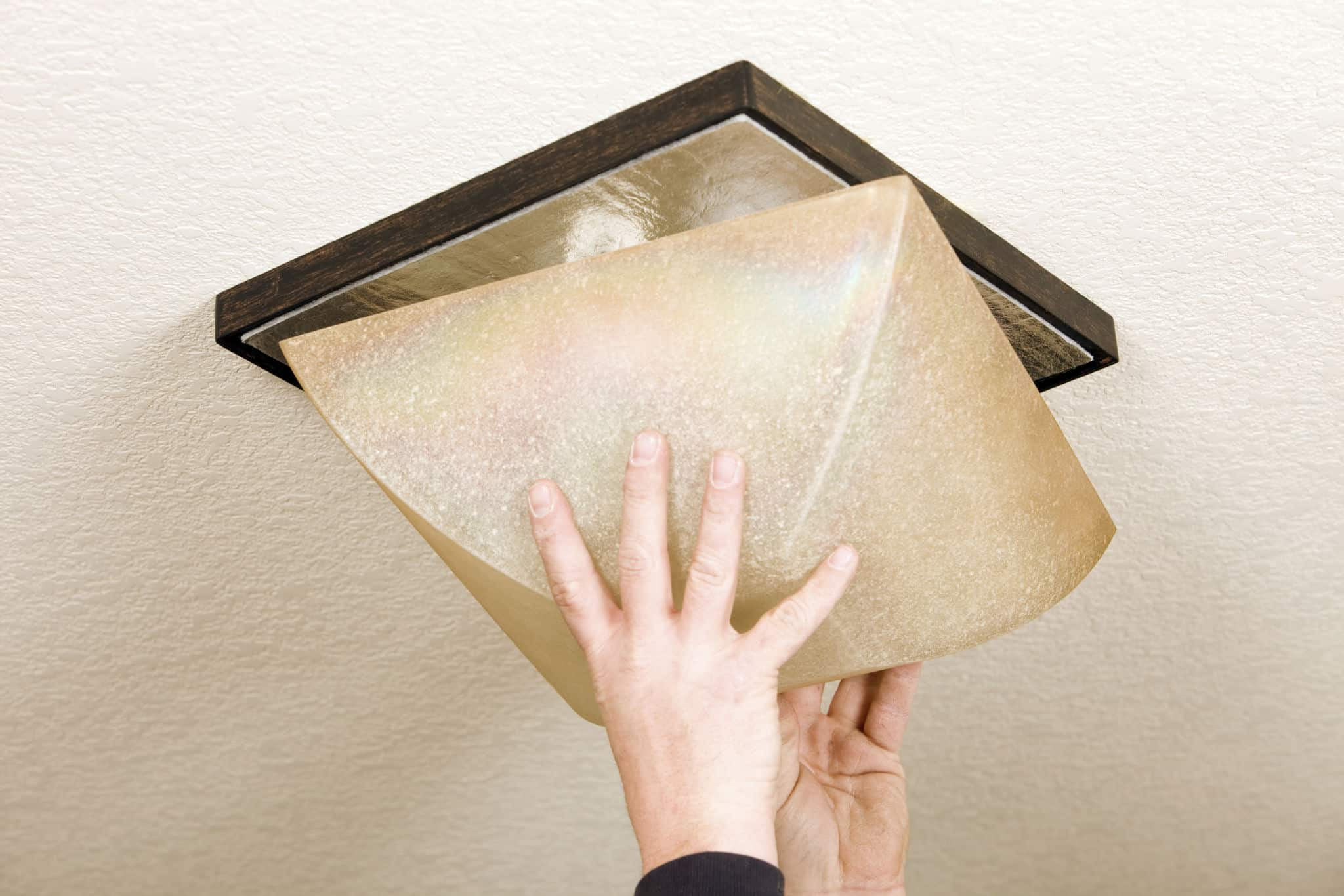 How to Remove Square Light Fixture Cover